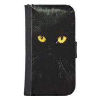 Black Cat Samsung S4 Wallet Case
