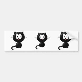 Black Cat Scardy Cat Halloween Gift Bumper Sticker