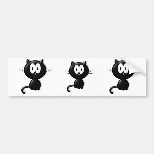 Black Cat Scardy Cat Halloween Gift Car Bumper Sticker