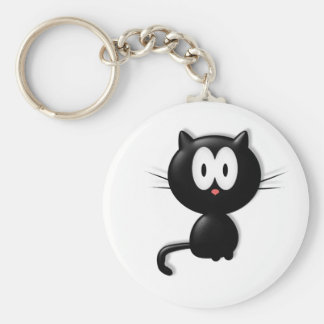 Black Cat Scardy Cat Halloween Gift Key Chain