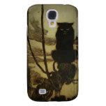 Black Cat Scowling Galaxy S4 Case