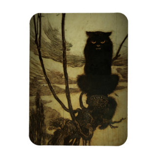 Black Cat Scowling Magnet