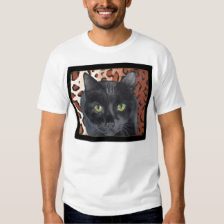 Black Cat Shirt with Quote