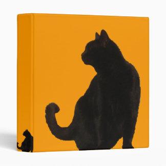Black Cat Silhouette 3 Ring Binder