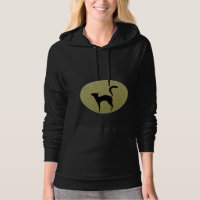 Black cat silhouette and moon Hoody