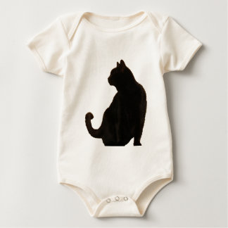 Black Cat Silhouette Baby Bodysuit