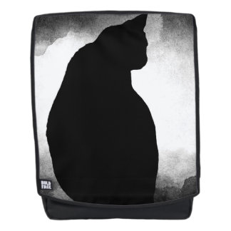 Black Cat Silhouette  Backpack