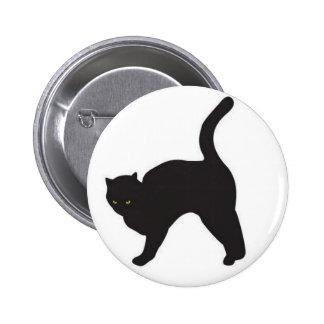 Black cat silhouette 2 inch round button