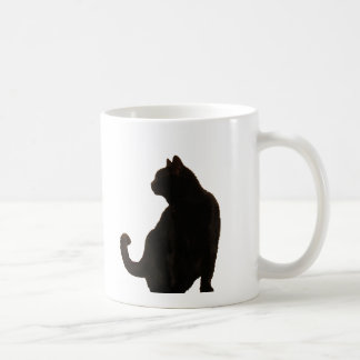 Black Cat Silhouette Coffee Mug
