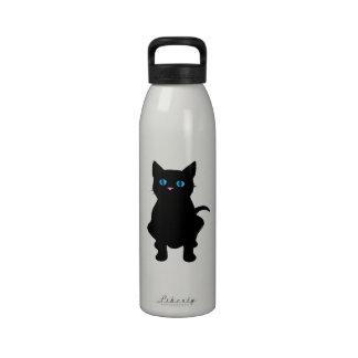 Black cat silhouette drinking bottles