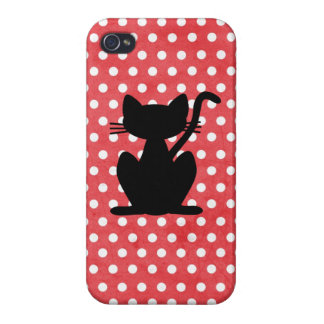 Black Cat Silhouette Iphone Case Cover For iPhone 4