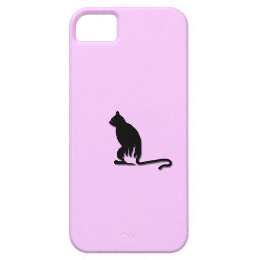 Black Cat Silhouette iPhone Case iPhone 5 Cases