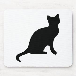 Black Cat Silhouette Mouse Pad