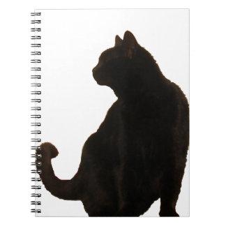 Black Cat Silhouette Note Book
