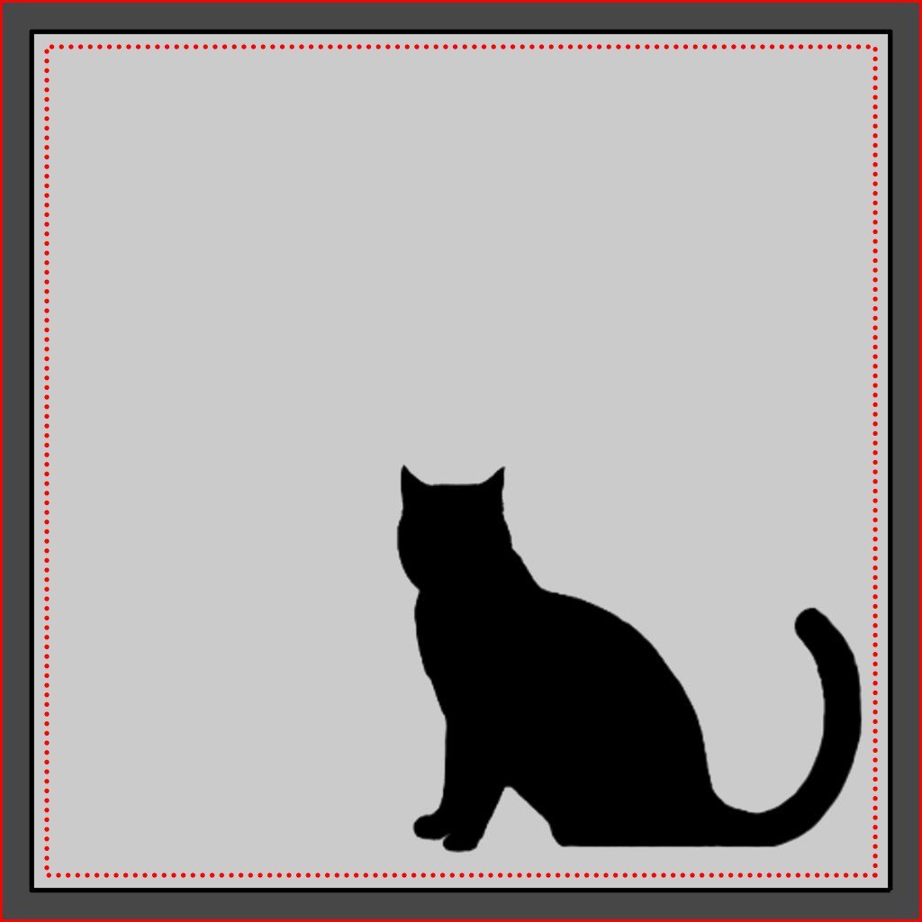 Cat head silhouette painting
