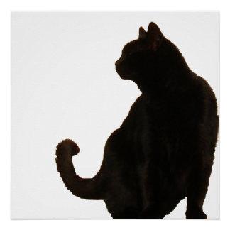 Black Cat Silhouette Poster