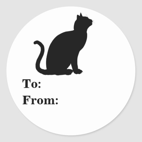 Black Cat Silhouette Tag To From