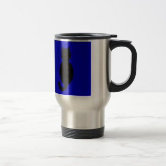 Black Cat Silhouette Travel Mug