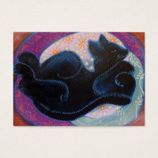 Black Cat. Sleeping. Business Card