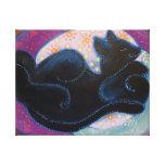 Black Cat. Sleeping. Canvas Prints
