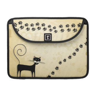 Black cat sleeve for MacBook pro