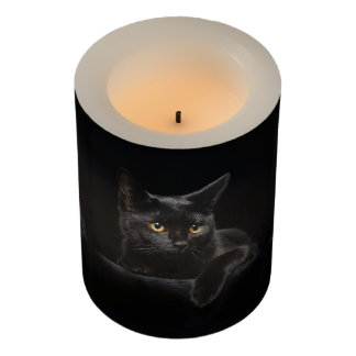 Black Cat Small Flameless Candle