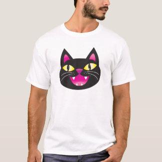 Black cat smiling T-Shirt
