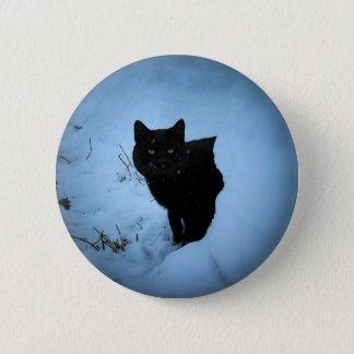 Black Cat Snowy Spotlight Button