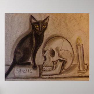 Black Cat Spells - Poster