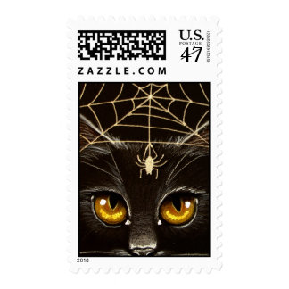 Black Cat & Spider Postage