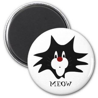 Black Cat Splat Magnet