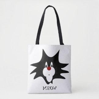 Black Cat Splat Tote Bag