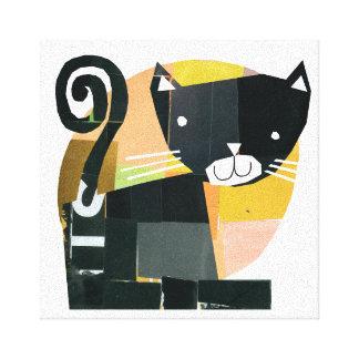 Black Cat Spooks Canvas Print