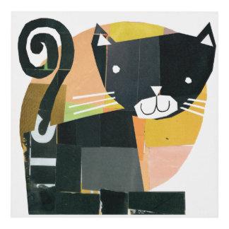 Black Cat Spooks Panel Wall Art