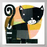 Black Cat Spooks Poster