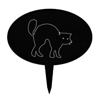 Black Cat spooky image Cake Topper