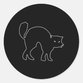 Black Cat spooky image Classic Round Sticker