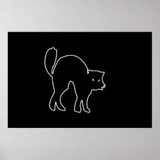 Black Cat spooky image Poster