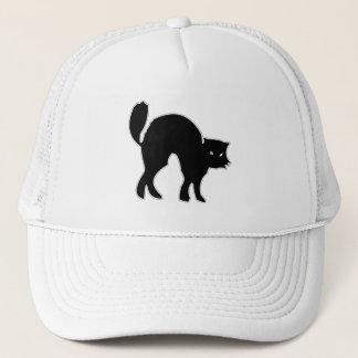 Black Cat spooky image Trucker Hat