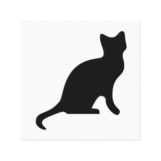 Black Cat - Spooky Scary Canvas Print