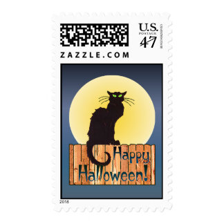 BLACK CAT STAMP by SHARON SHARPE