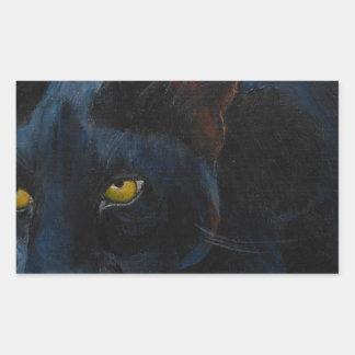 Black Cat Rectangle Sticker