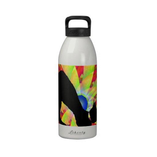 Black Cat Stretch Reusable Water Bottles