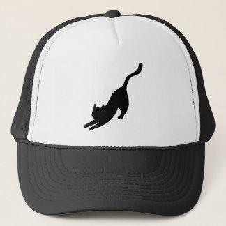 Black Cat Stretching Trucker Hat
