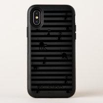 Black Cat & Stripes Cute Sam OtterBox Symmetry iPhone X Case