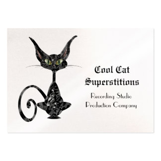 Black Cat Superstitious Cool Large Business Card