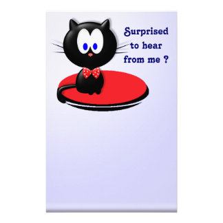 Black cat surprise stationery paper