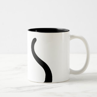 Black cat tail magnetic cup