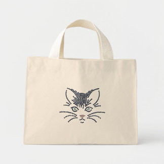 Black Cat Tiny Tote Mini Tote Bag
