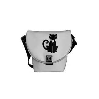 Black cat tomcat courier bag